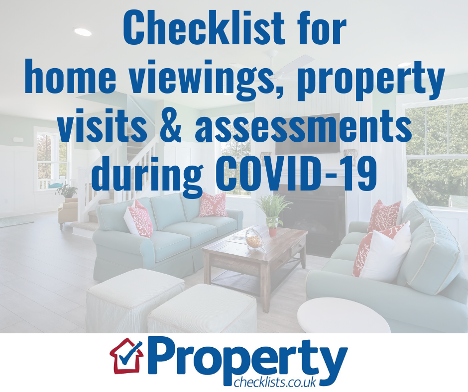 Home viewings, property visits and assessments during COVID-19 checklist