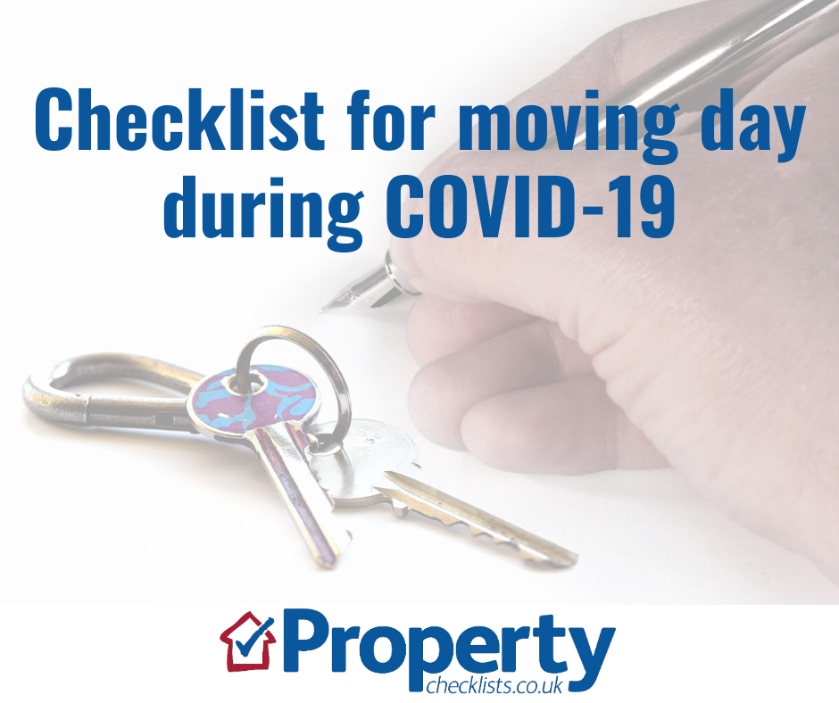 Checklist for moving day during COVID-19