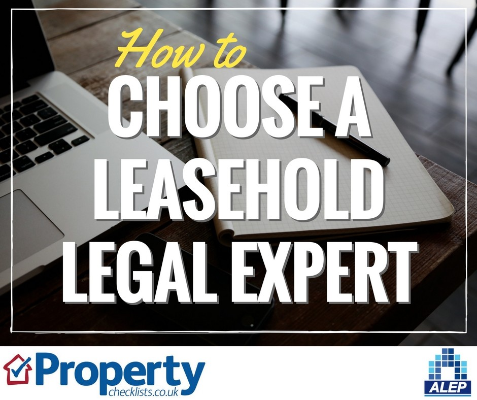 How to choose a leasehold legal expert checklist
