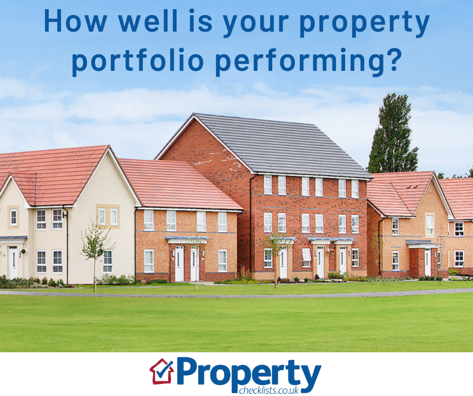 How well is your property portfolio performing checklist