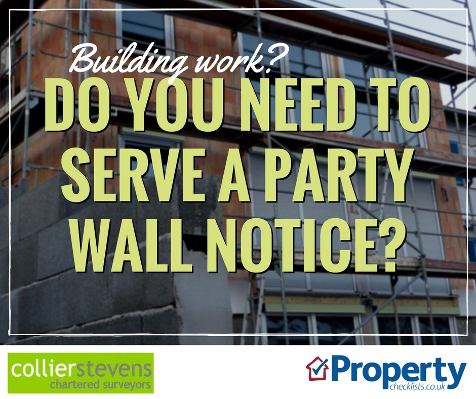 Do I need to serve a party wall notice checklist