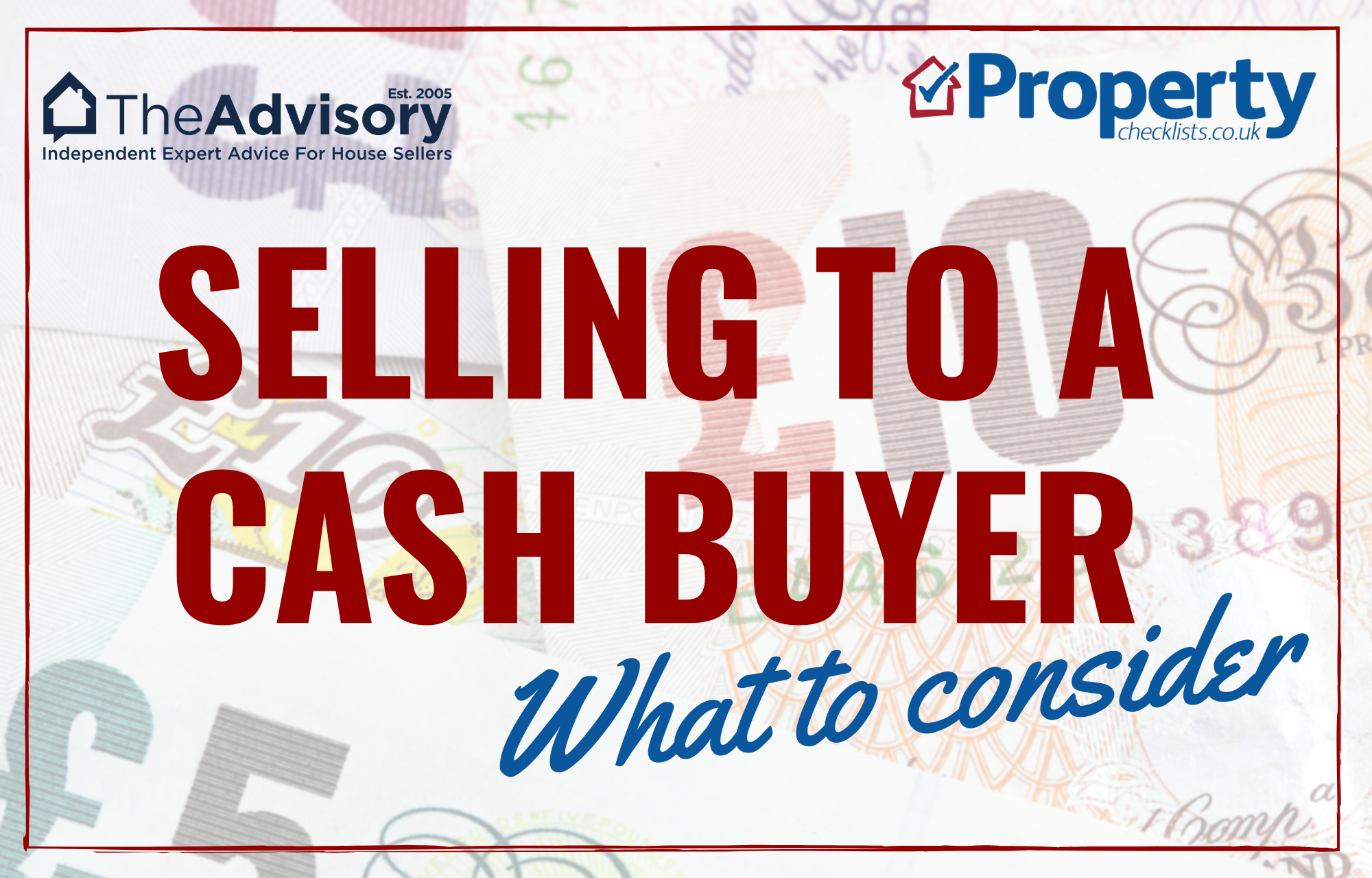 Selling to a cash buyer checklist